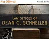 ON SALE Custom Law Offices of Sign - Rustic Hand Made Distressed Wooden ENS1000723