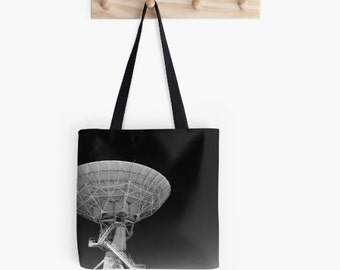 Tote Bag | Canvas Reusable Tote | Black and White | Very Large Array Photo | Grocery Bag | Farmers Market Bag | New Mexico Bag | Three Sizes