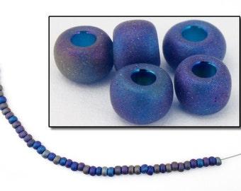 6/0 Matte Montana Iris Seed Bead (40 Gram) #CSB199