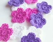 Crochet Flower Pattern, Instant Download PDF, Flower Applique Pattern, Embellishment Pattern, Easy Crochet Pattern, Motif Pattern