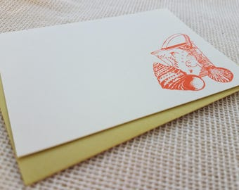 Letterpress Enclosure Card - Beach Pail and Seashells