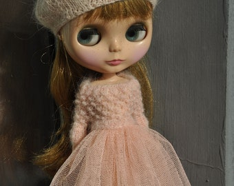Babydoll sweater for Blythe-light pink