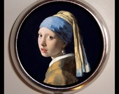 Girl with the Pearl Earring Johannes Vermeer Box Pillbox Case Holder for Vitamins Fine Art Medicine Organizer Trinket Box