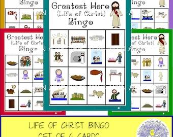 Life of Christ (Greatest Hero) Bingo Game Set of 6