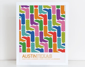 Austin, Texas travel Poster