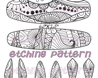 Digital Pattern for Etching Floral Cuff Bracelet Download DTF 9983-1