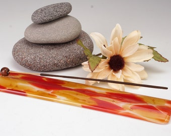 Stick incense holders, Sedona long glass incense burner, incense burner, yoga incense holder, meditation incense holder, yogi
