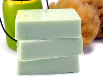 Margarita Lime Sea Salt Soap, Homemade Soap Bar