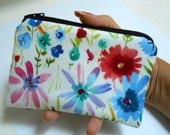Zipper Pouch Little Padded Coin Purse ECO Friendly NEW Spring has Sprung