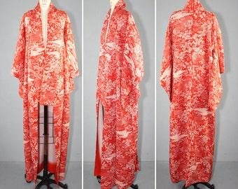 vintage kimono / silk robe / BLOSSOM and GATE floral silk kimono