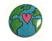 Earth Day Pin or Magnet -...