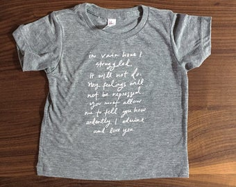 TODDLER T-shirt - Mr. Darcy Proposal - 18m-24m - Jane Austen - Limited quantity