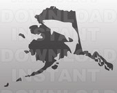 Alaskan Salmon Fishing SVG File -Commercial & Personal Use- SVG File for Cricut,Silhouette Cameo,Heat Transfer vinyl,iron on