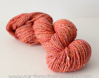 Change of Seasons - Merino Wool Silk Blend Handspun Yarn DK Worsted Weight 2ply Soft Natural Fiber Hand Spun