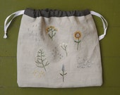 garden sampler project bag RESERVED for Dragonfly57