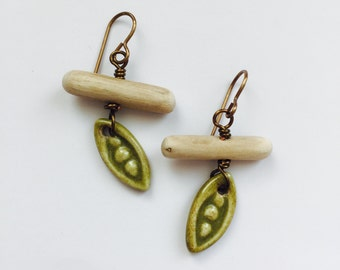 Three Peas in a Pod Earrings