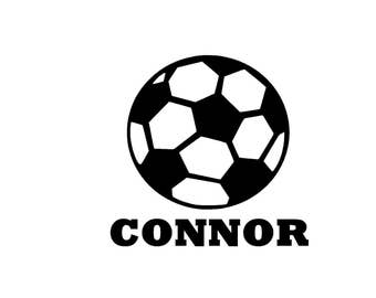 Soccer Name Decal, Sports Decal, Sports Sticker, Soccer Sticker, Soccer Window Sticker,Soccer Player Decal, Decal for Water bottle, Sticker