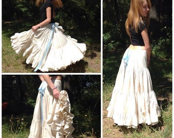 Wedding skirt and petticoat, custom made, plus size or not, gypsy wedding, handmade bridal, bridal skirt, hippie wedding, outdoor wedding