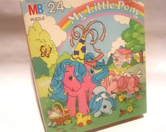 Vintage My Little Pony Jigsaw Puzzle 24 Pieces Complete