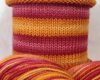 Can't Kill a Daylily: Hand-dyed gradient self-striping sock yarn, 80/20 SW merino/nylon