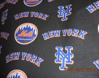 MadieBs New York Mets  Cotton Fabric Fitted Crib or Toddler Bed Sheet