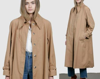 SALE - 70s Minimalist Trench Coat