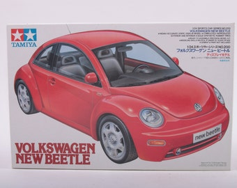 Tamiya, 1/24 Scale, Model, Kit, 24200, Volkswagen, New Beetle, Opened, Complete 161010