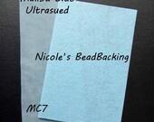Ultrasuede with Free Nicoles BeadBacking Malibu Blue