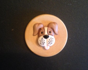 Magnetic Brooch, Freckle-Faced Dog