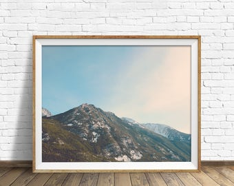 "large colorful landscape photography, large landscape wall art, mountain landscape, large photography art prints, wall art - ""Face the Sun"""