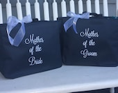 SALE Mother of the Bride tote bag, Mother of the Groom tote bag, Monogrammed Tote Bag Set, personalized totes, Gift for mother of the bride
