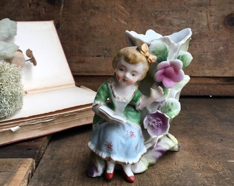 Porcelain Vase - Woman Reading Book Vase