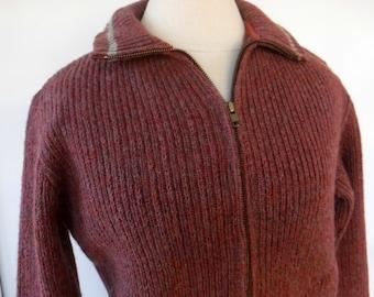 Pendleton Vintage Wool Sweater/medium M knit sweater/woman/man outdoor Hippie Bohemian winter pullover/warm thick jacket/virgin wool sweater