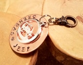 MADE TO ORDER custom personalized hand stamped Jeep keyfob ... super gift idea for the Jeepaholic!