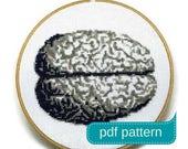 Anatomical Brain Counted Cross Stitch Pattern PDF Download
