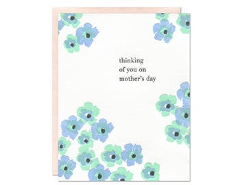 Thinking of You - Mother's Day Letterpress Card