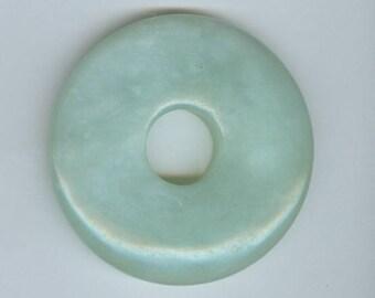 50mm Green Donut, 50mm Green Aventurine Gemstone PI Donut Focal Pendant Bead 440B