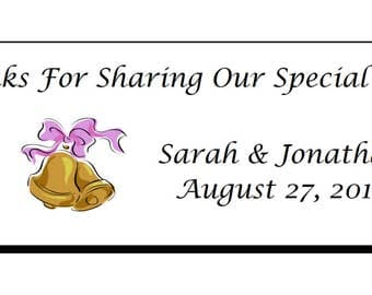 """Personalized Wedding Rectangle Party Favor Gift Hang Tags 1x2.65"""""""