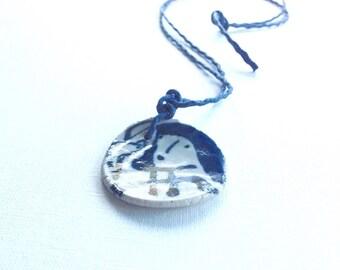 Handpainted ceramic pendant