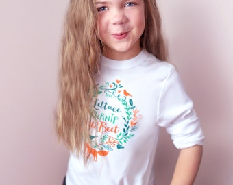 SALE lettuce turnip the beet ® - trademark brand OFFICIAL SITE - white long sleeve cotton shirt - toddler & kid sizes