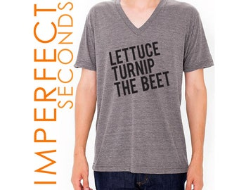 lettuce turnip the beet ® trademark brand OFFICIAL site - grey heather vneck - discounted IMPERFECT SECONDS