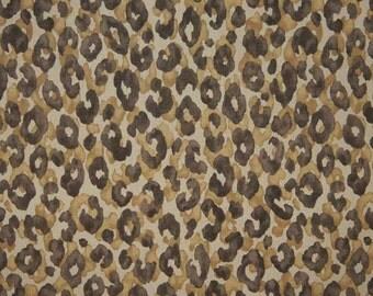 P Kaufmann FABRIC - Home Decor Canvas - Safari - Snow Leopard