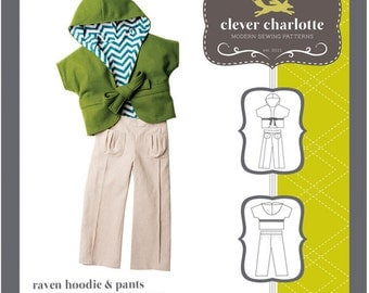 Clever Charlotte PATTERN - Raven Hoodie & Pants - Sizes 2T-8