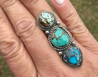 JUMA Jewelry - Trio of Turquoise Ring - From My Branch