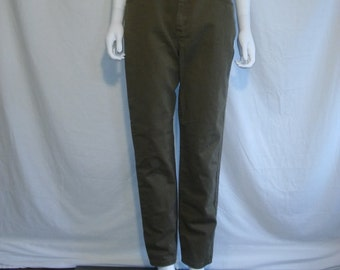 LEE Women's jeans, high waisted mom jeans, W 30 waist jeans, vintage high waist jeans, olive green color