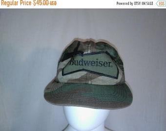Closing Shop Sale 45% Off Budweiser Beer Vintage hat cap snap back snapback  king of beers  Camo Camouflage trucker hat
