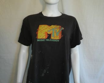 MTV Music Television 80s Screen Stars t shirt Authentic Original