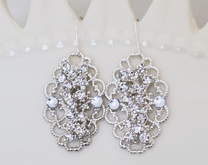 Vintage Style Crystal Earrings