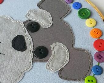 Schnauzer Hoop Art,Schnauzer Wall Art,Schnauzer,Dog, Schnauzer Design, Embroidery Hoop Art, Nursery Art, Kid's Room, Baby Room, Button Art