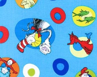 Dr Seuss children fabric by Robert Kauffman 1 yard cotton SALE!